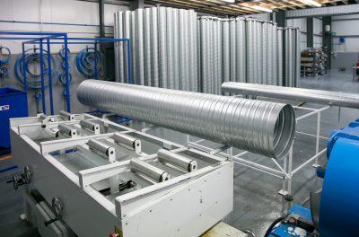 Galvanised coil bespoke spiral ductwork HVAC manufacturers | Breffni Air Ltd - Specialist Ventilation